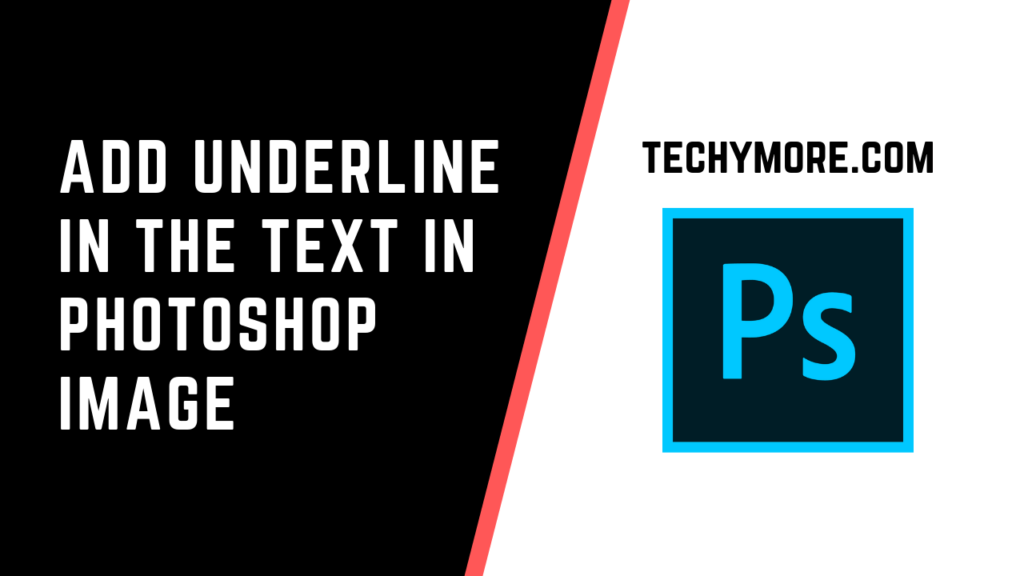 how to underline text in photoshop