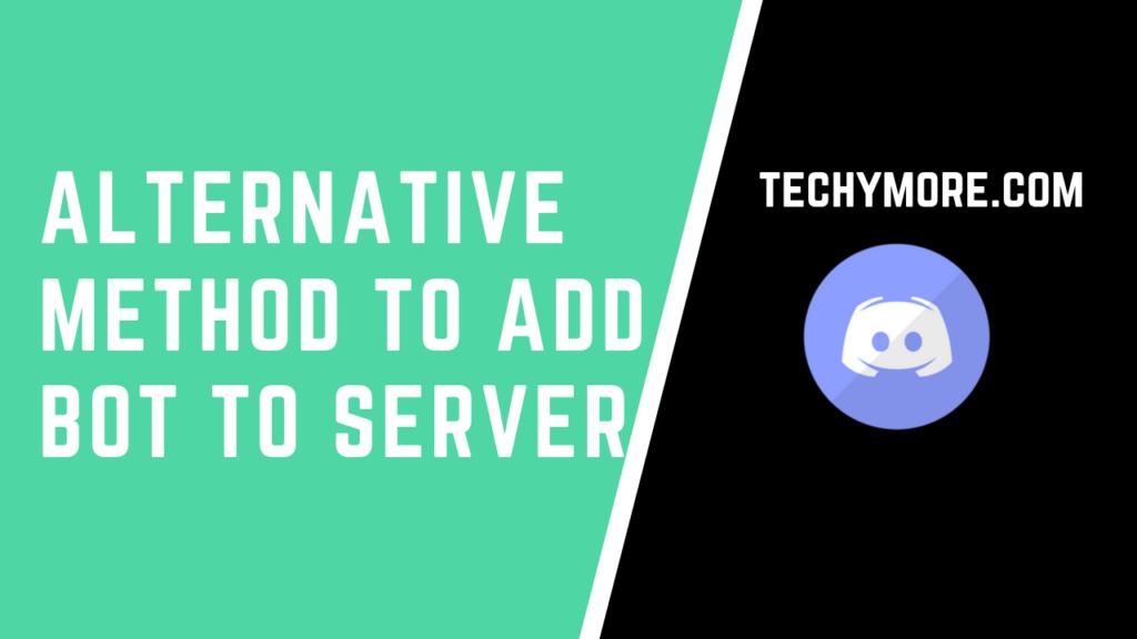 Alternative method to add bot to server