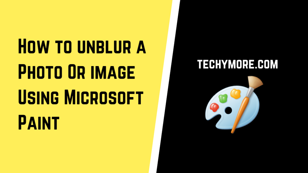 How to unblur an image