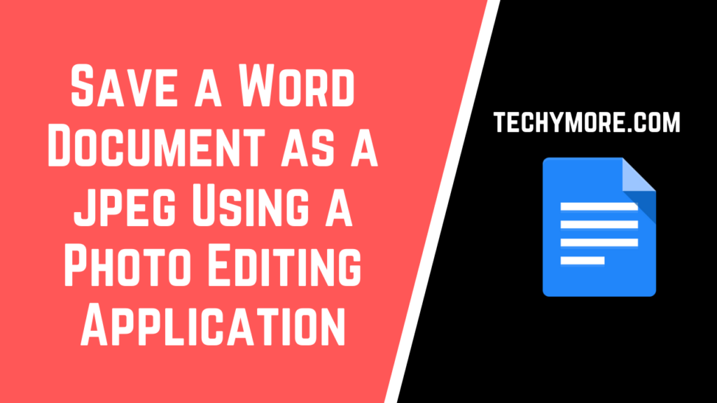 How To Save a Word Document As a jpeg